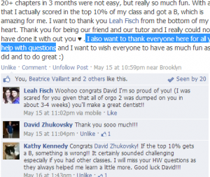 Study Hall Facebook Page Screenshot